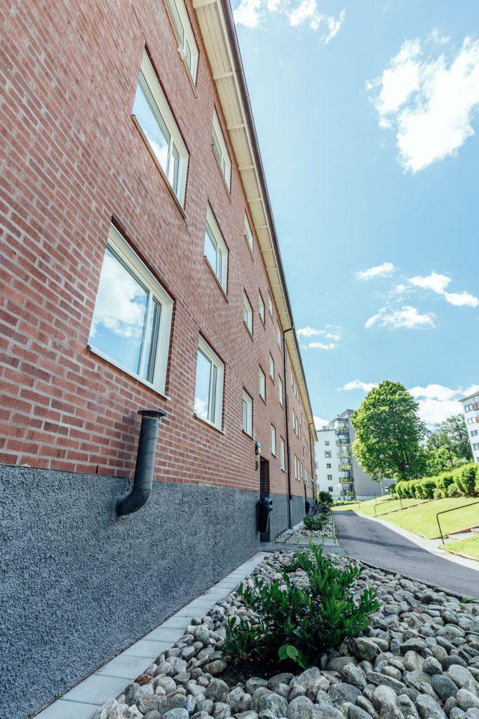 Fasadrenovering Brf Backen, Göteborg