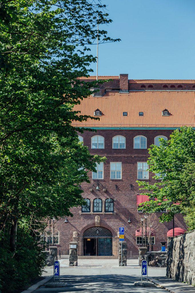 Fasadrenovering Hvitfeldska Gymnasiet, Göteborg